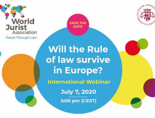World Law Congress. Online Opening Session. Barcelona 07 JUL 2020